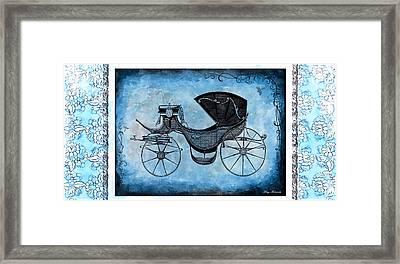 Framed Print featuring the mixed media Victorian Coach by Mary Morawska