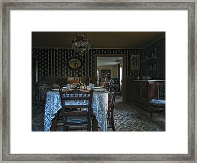 Victorian Dining Room No. 2 - Montana Framed Print by Daniel Hagerman
