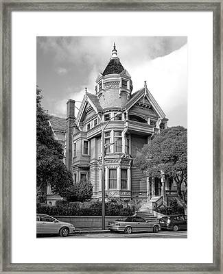 Victorian Haas Lilienthal House In San Francisco Framed Print by Daniel Hagerman