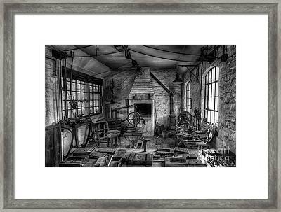 Victorian Locksmith's Workshop Framed Print by Adrian Evans