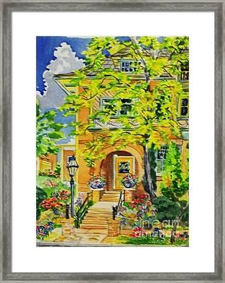 Victorian Sandstone Mansion Denver Colorado Framed Print