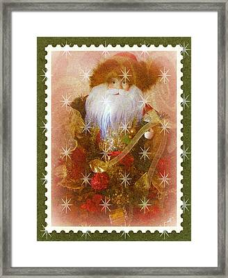 Victorian Santa Framed Print by Michelle Frizzell-Thompson