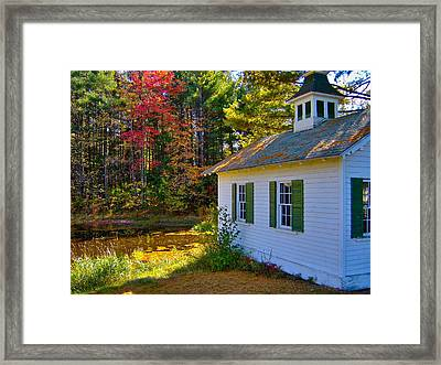Victorian Shed In Fall 5 Framed Print