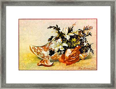 Victorian Trade Card Framed Print by Mary Morawska
