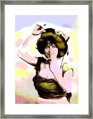 Framed Print featuring the mixed media Victorias Secret by Charles Shoup