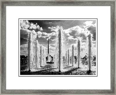 Victory Park Fountains Framed Print