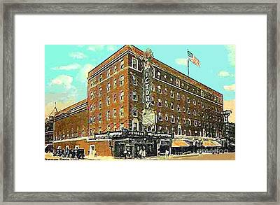 Victory Theatre And Hotel Sonntag In Evansville In 1920 Framed Print by Dwight Goss