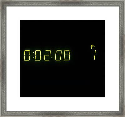Video Recorder Counter Framed Print by Andrew Lambert Photography