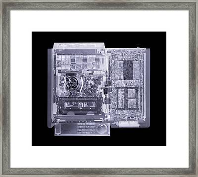 Video Recorder, Simulated X-ray Framed Print by Mark Sykes
