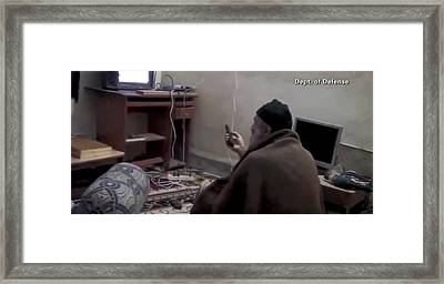 Video Still Of Al Qaedo Terrorist Framed Print by Everett