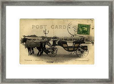 Vienna Carriage Framed Print by Cecil Fuselier