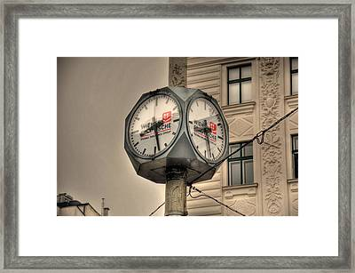 Vienna Time Framed Print by Barry R Jones Jr