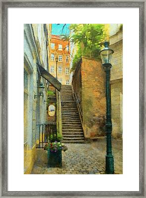 Viennese Side Street Framed Print by Jeff Kolker
