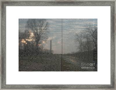Vietnam Veterans Memorial  Framed Print by Clarence Holmes