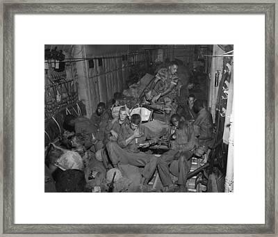 Vietnam War. 101st Airborne Division Framed Print by Everett