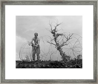Vietnam War. A Us Army Infantryman Framed Print