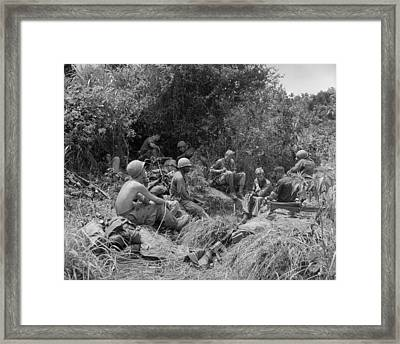 Vietnam War. Soldiers Of The 101st Framed Print by Everett