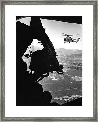 Vietnam War. Us Army Helicopter Framed Print by Everett