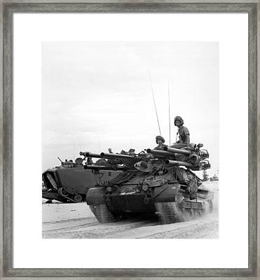 Vietnam War. Us Troops Arriving Framed Print by Everett