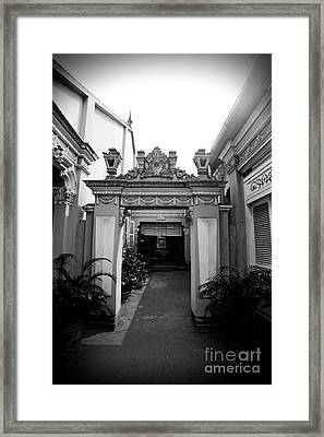 Vietnamese French Archway Framed Print by Thanh Tran