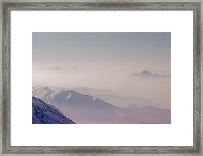 View Across Chamonix Valley Framed Print