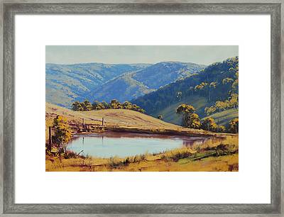 View Across The Dam Framed Print