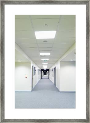 View Along A Bright Corridor Framed Print