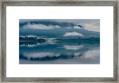 View At Sunset From The Lake Hotel In Killarney Ireland Framed Print