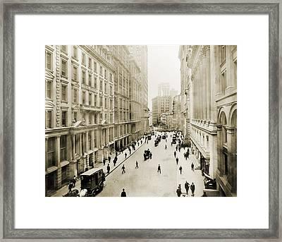 View Down Broad Street Framed Print