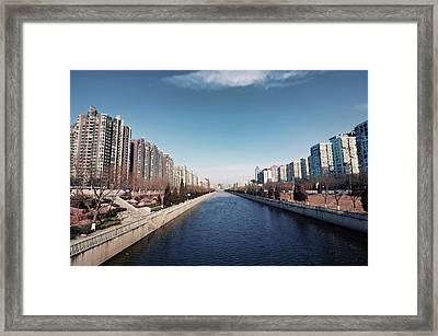 View Down Canal Framed Print by Andy Brandl