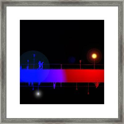 View From A Bridge Framed Print by Steve K