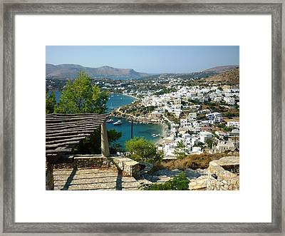 View From A Castle Framed Print by Therese Alcorn