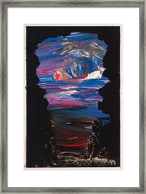 View From A Cave On Venus Framed Print by Rhetta Hughes