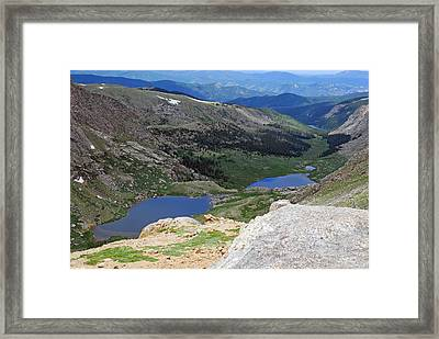 View From Atop Mt. Evans Framed Print