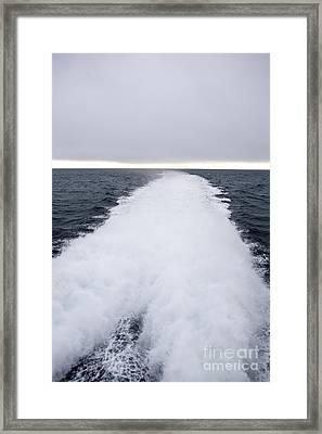 View From Back Of Ferry, Strait Of Juan De Fuca, Washington Framed Print by Paul Edmondson