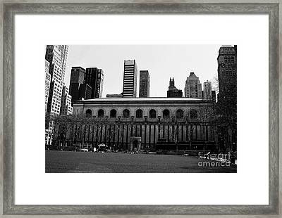 View From Bryant Park Nyc Framed Print by Trude Janssen