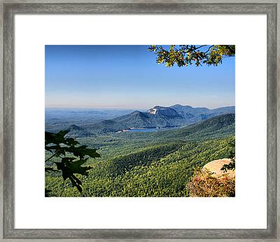 Framed Print featuring the photograph View From Caesar's Head by Lynne Jenkins