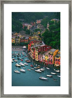 View From Castello Brown Framed Print by John Galbo