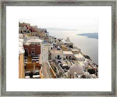 View From Fira Framed Print by Carla Parris