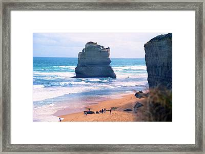 Framed Print featuring the photograph View From Gibson's Steps by Dennis Lundell
