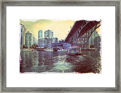 View From Granville Island Framed Print by Barbara  White