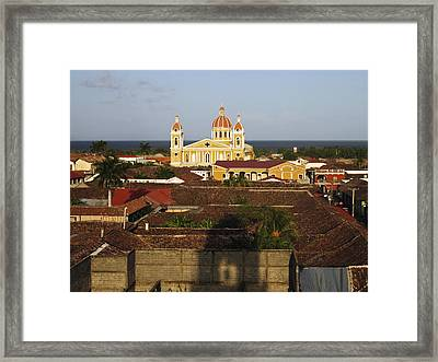 View From Iglesia La Merced Granada Nicaragua Framed Print by Kurt Van Wagner