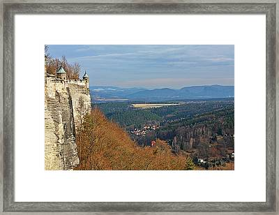 View From Koenigstein Fortress Germany Framed Print