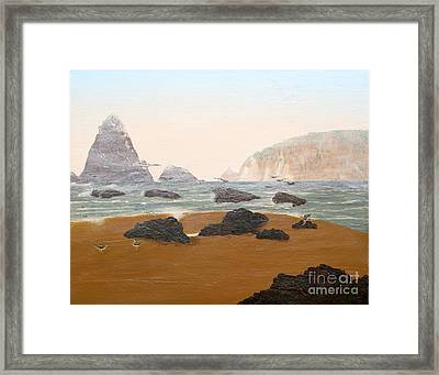 View From Luffenholtz Beach Framed Print