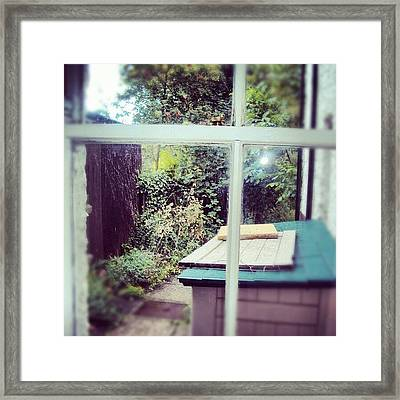 View From My Window, #cambridge #view Framed Print