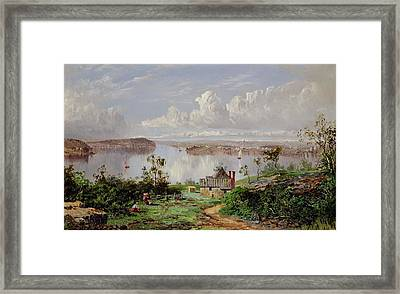 View From Onions Port Sydney  Framed Print by William Charles Piguenit
