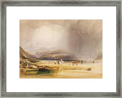 View From Snowdon From Sands Of Traeth Mawe Framed Print