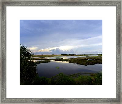 View From St. Marks Lighthouse Framed Print by Judy Wanamaker