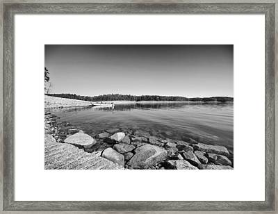 View From The Boat Ramp Framed Print