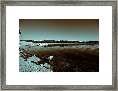 View From The Boat Ramp V2 Framed Print